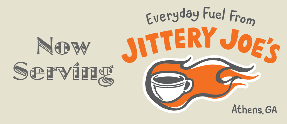 Now Serving Jittery Joe's Coffee